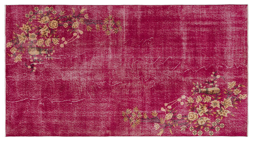 Vintage vloerkleed rood 18303 266cm x 147cm