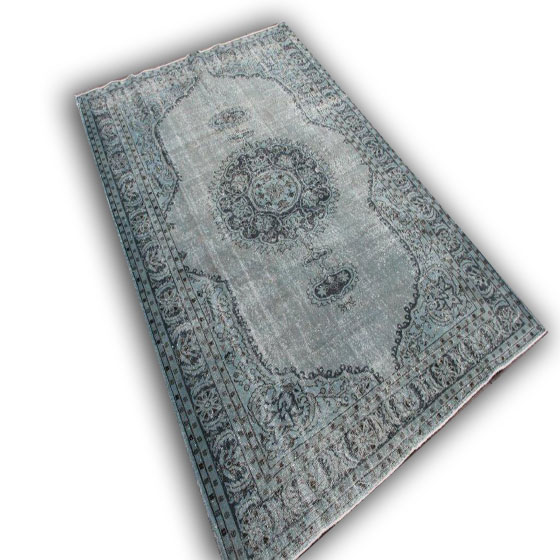 Blauwgrijs vloerkleed 184 (317cm x 224cm)