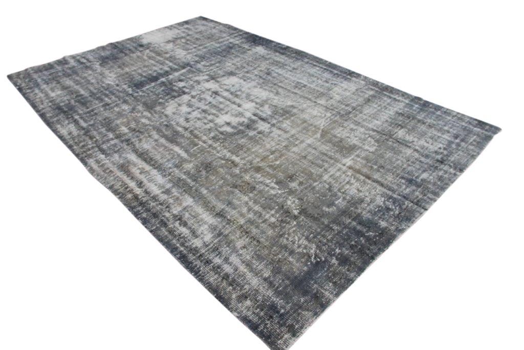 NIEUW BINNEN versleten look blauw grijs vloerkleed  uit Turkije 322cm x 219cm, no 186