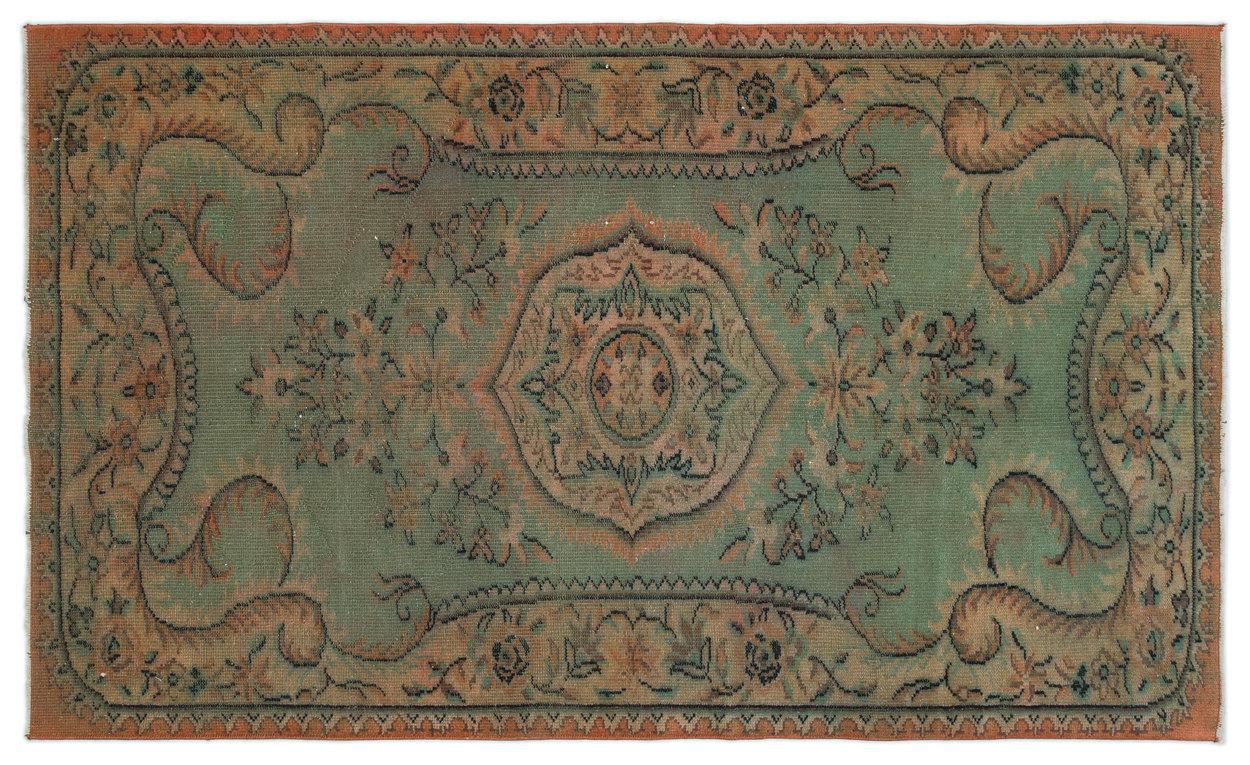 vintage vloerkleed met beige en rood 7166