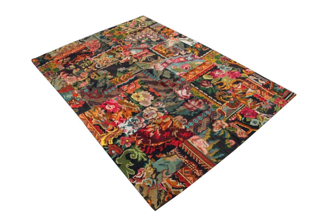 Kelim patchwork  1890D (291cm x 204cm) Gemaakt van authentieke rozenkelims