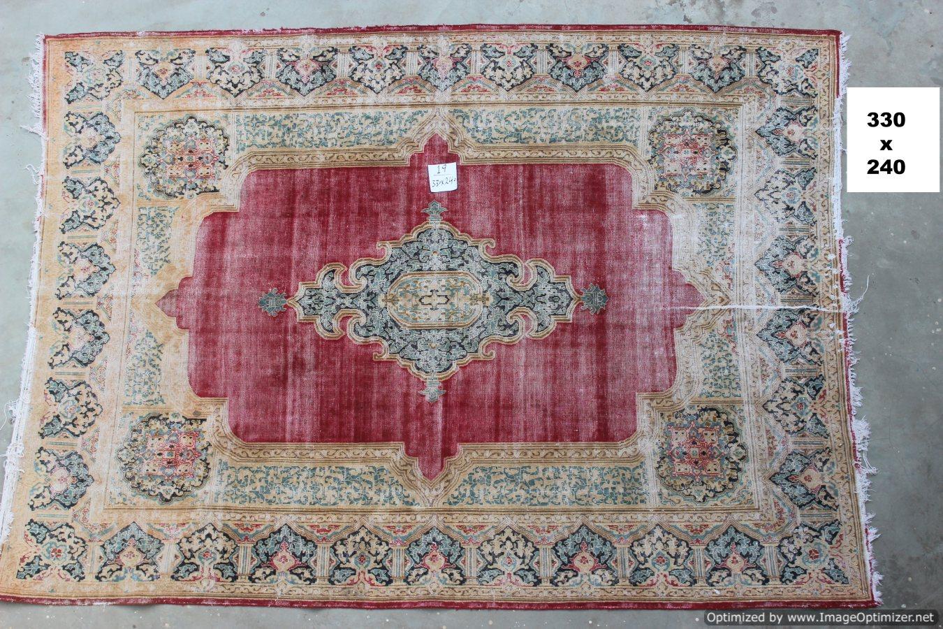 Vintage recoloured perzisch tapijt 19B (330cm x 240cm)