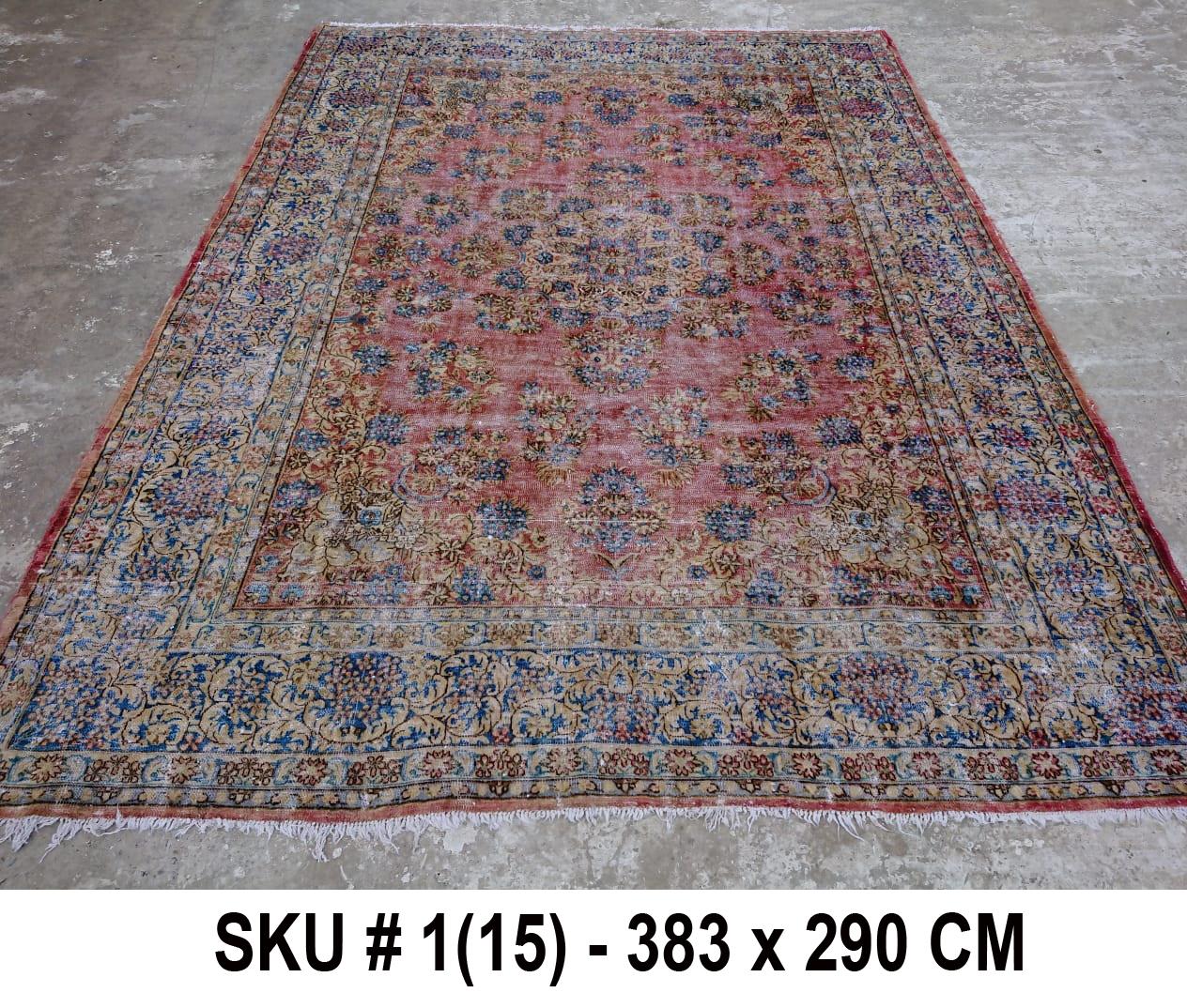 Vintage vloerkleed, nr.59001, 383cm x 290cm