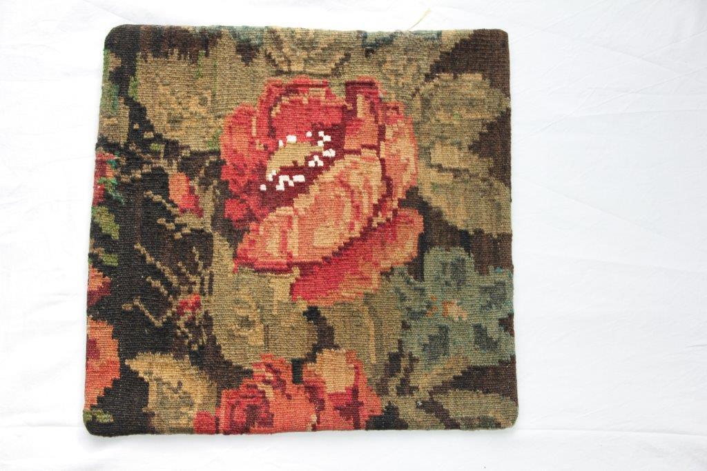 Kelim kussen  45cm x 45cm, handgeweven uit Moldavië, no 201 wordt geleverd incl. binnenkussen