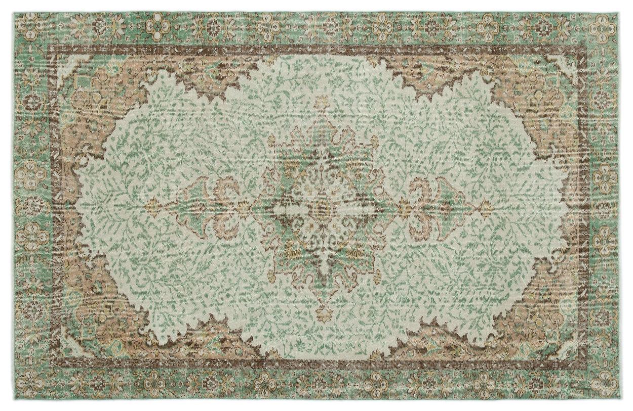 Vintage vloerkleed groen 20117 279cm x 178cm