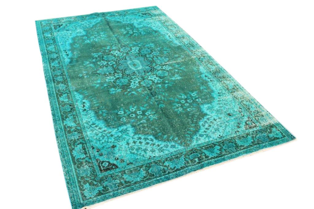 Vintage vloerkleed, blauw, 269cm x 170cm