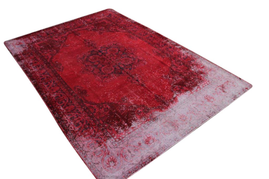 Rood vintage vloerkleed  uit Turkije 318cm x 214cm, no 2038
