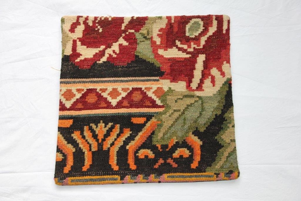 Kelim kussen  45cm x 45cm, handgeweven uit Moldavië, no 204 wordt geleverd incl. binnenkussen