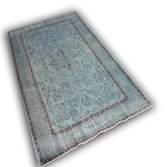 Lichtblauw vloerkleed 2062 (300cm x 185cm)
