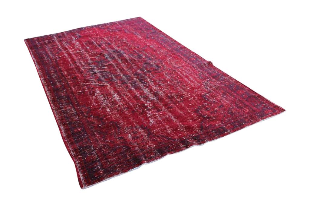 Vintage vloerkleed, rood, 287cm x 179cm