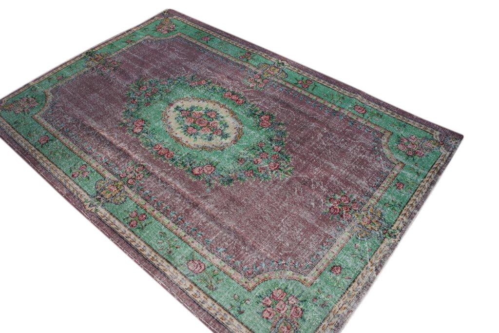 Vintage vloerkleed  uit Turkije 287cm x 193cm, no 2097