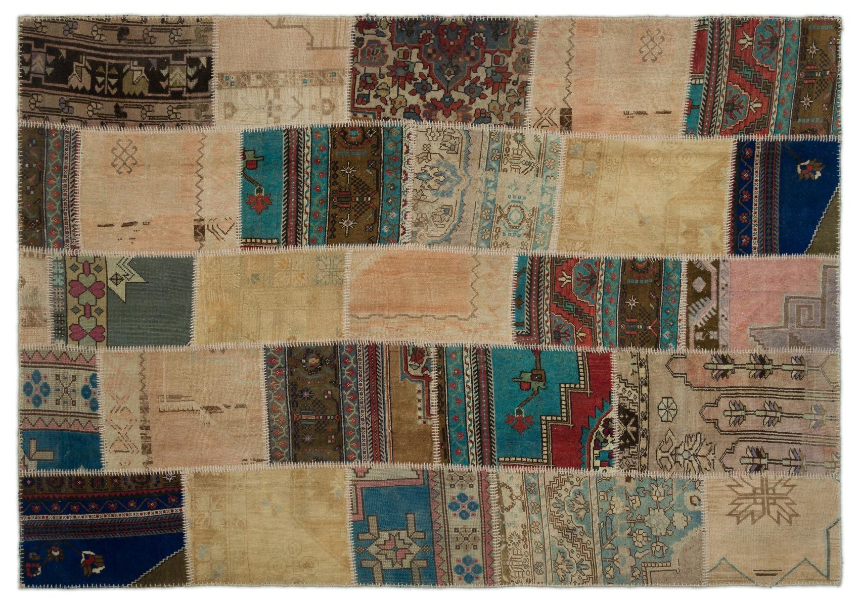 patchwork vloerkleed 270cm x 189cm