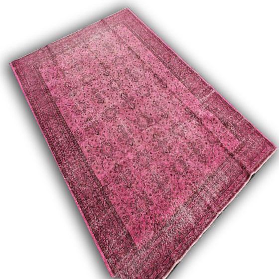 Oud roze vloerkleed 238 (307cm x 214cm)