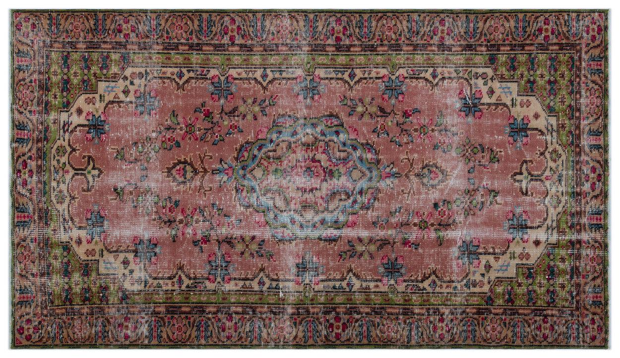 Vintage vloerkleed roze 23850 268cm x 154cm