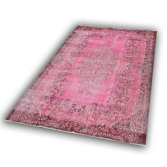 Oud roze vloerkleed 239 (312cm x 195cm)