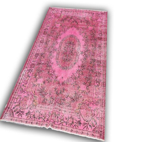 Roze vloerkleed 254 ( 285cm x 175cm)