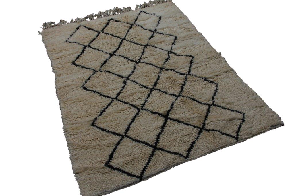 Beni Ouarain vloerkleed uit Marokko no 2562 (217cm x 155cm)   NIEUW BINNEN OP VOORRAAD!
