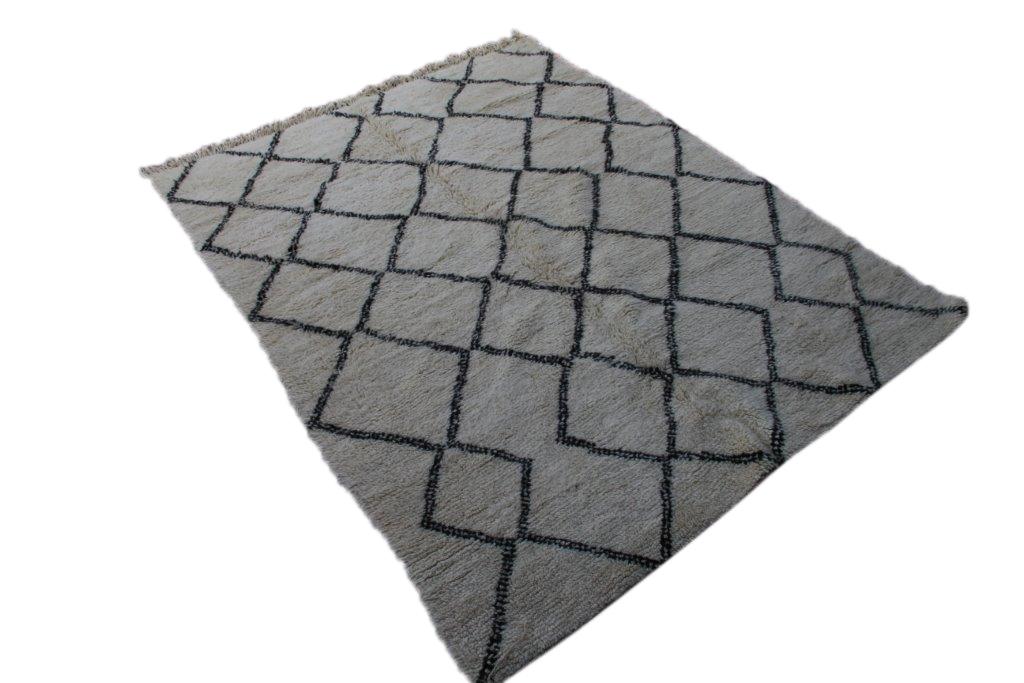 Beni Ouarain vloerkleed uit Marokko no 2609 (254cm x 194cm)