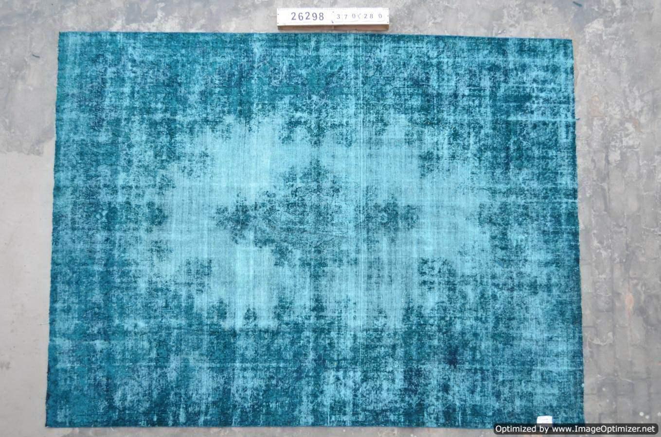 Blauw recoloured tapijt uit Iran 26298 (370cm x 280cm)