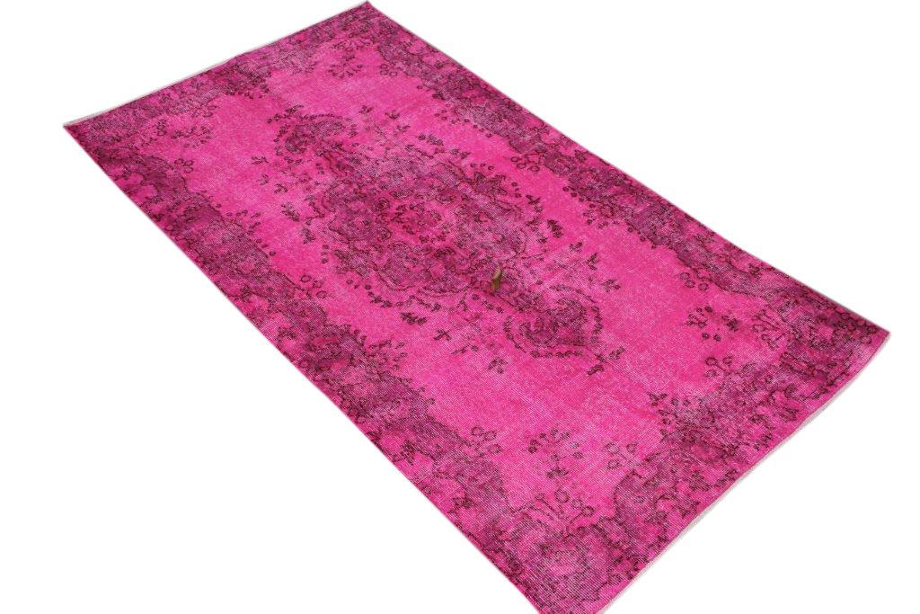 Roze vintage vloerkleed no 264D (206cm x 116cm)  VERKOCHT HAPPY PANDA
