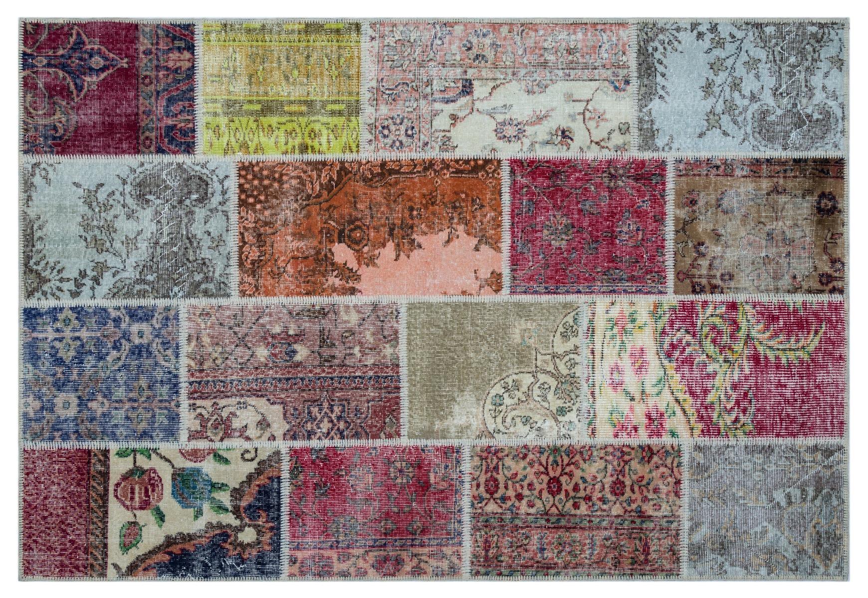 patchwork vloerkleed diverse kleuren nr.26458 230cm x 158cm