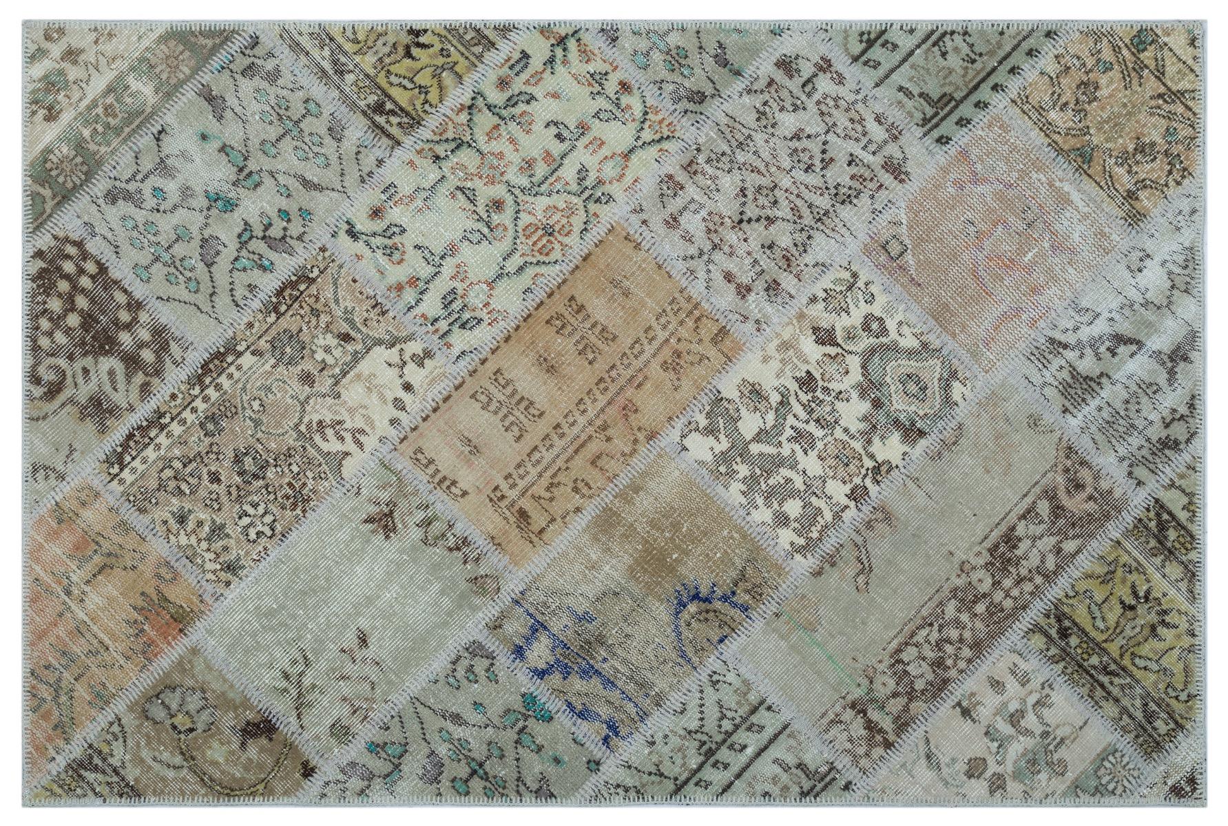 patchwork vloerkleed beige nr.26556 180cm x 120cm