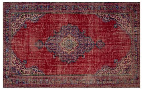 Vintage vloerkleed rood 26962 294cm x 192cm