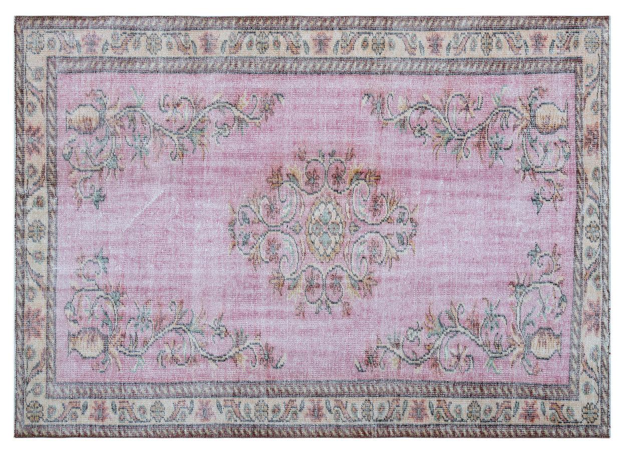 Vintage vloerkleed roze 27055 234cm x 166cm