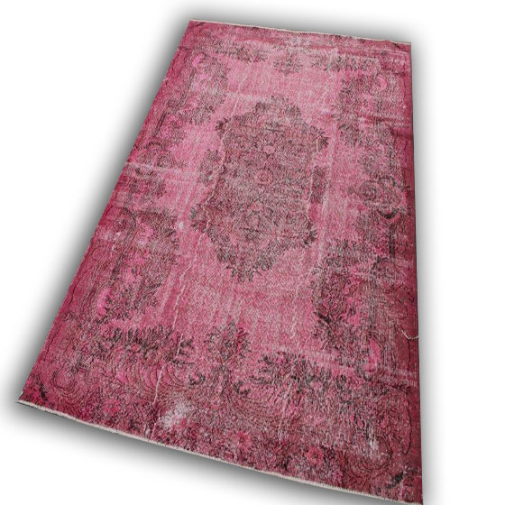 Roze vintage tapijt 277 (287cm x 200cm)