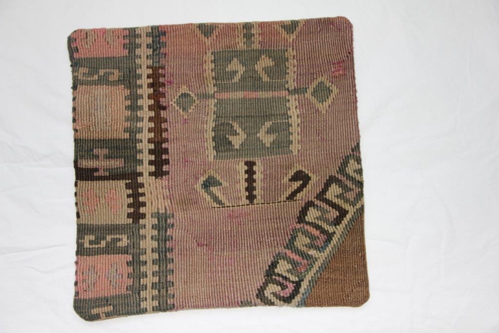 UITVERKOOP: Kelim kussen 45cm x 45cm, no 277 (zonder binnen kussen)