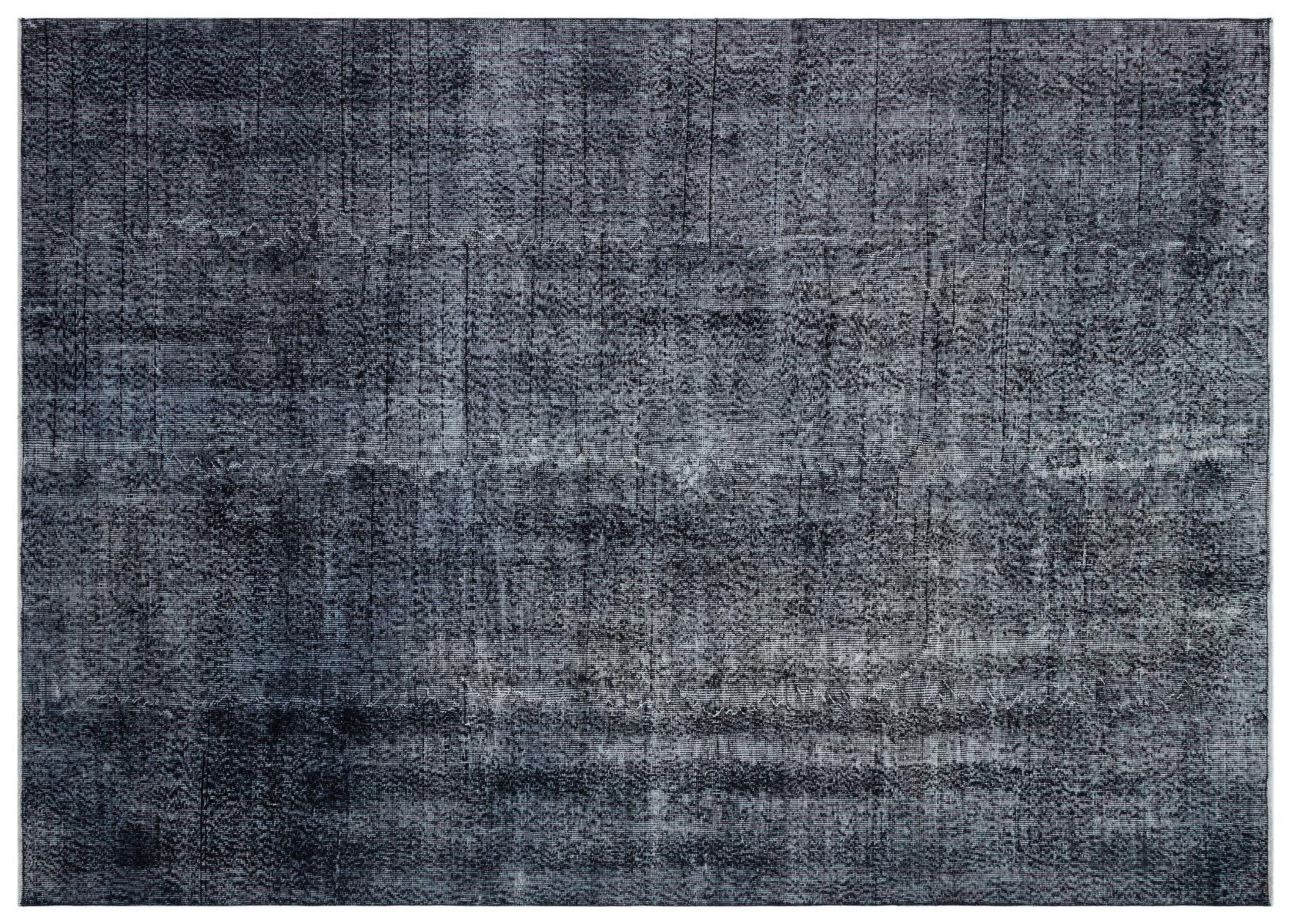 Vintage vloerkleed zwart nr:28148 290cm x 206cm