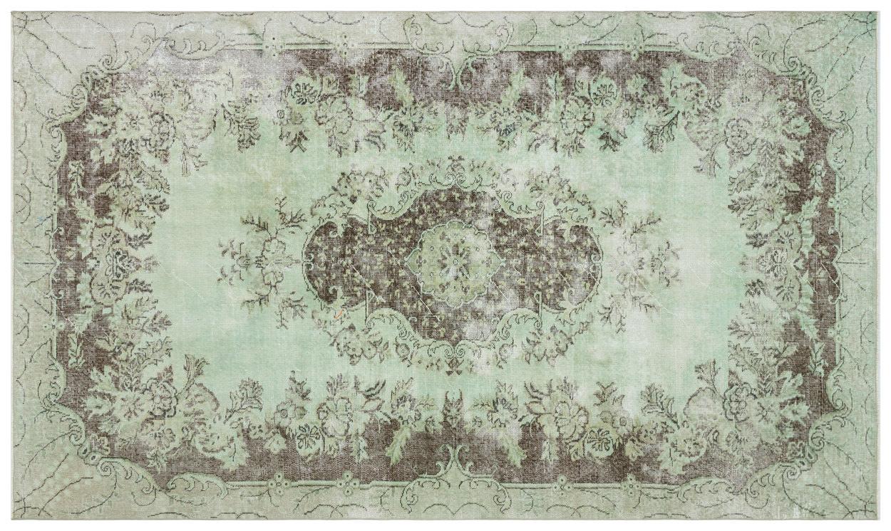 Vintage vloerkleed groen 28335 306cm x 180cm