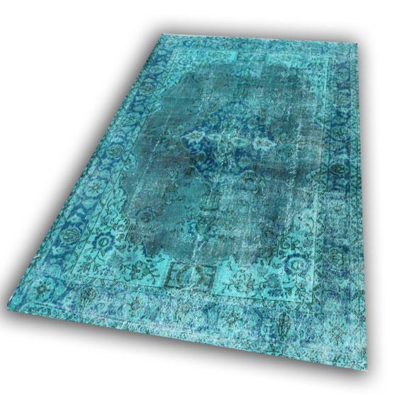 Aqua zeegroen vloerkleed gereserveerd 2843 (307cm x 203cm)
