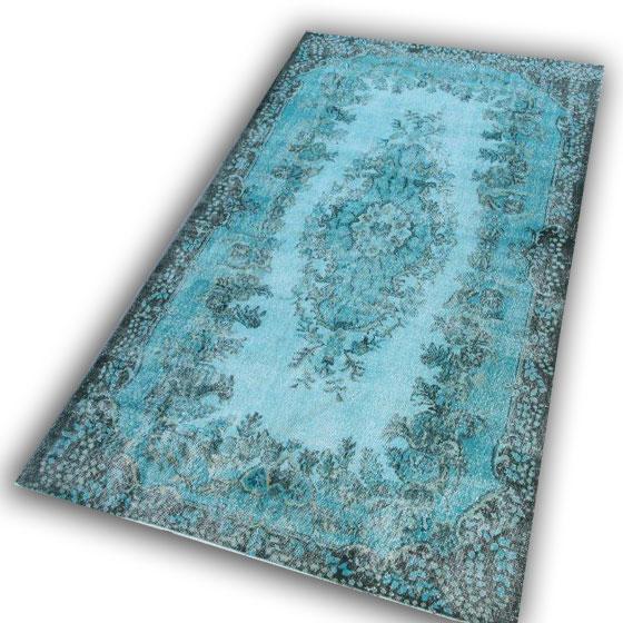 Blauw vloerkleed 2844 (301cm x 180cm)