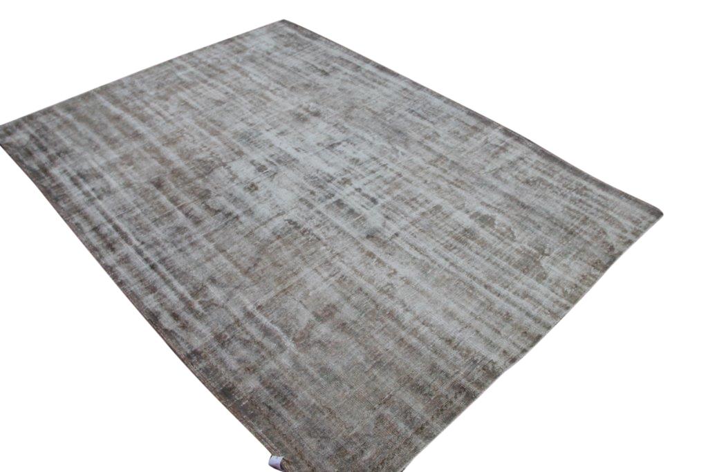 Verkocht!!! Versleten look taupe vloerkleed  uit Turkije 295cm x 214cm, no 286