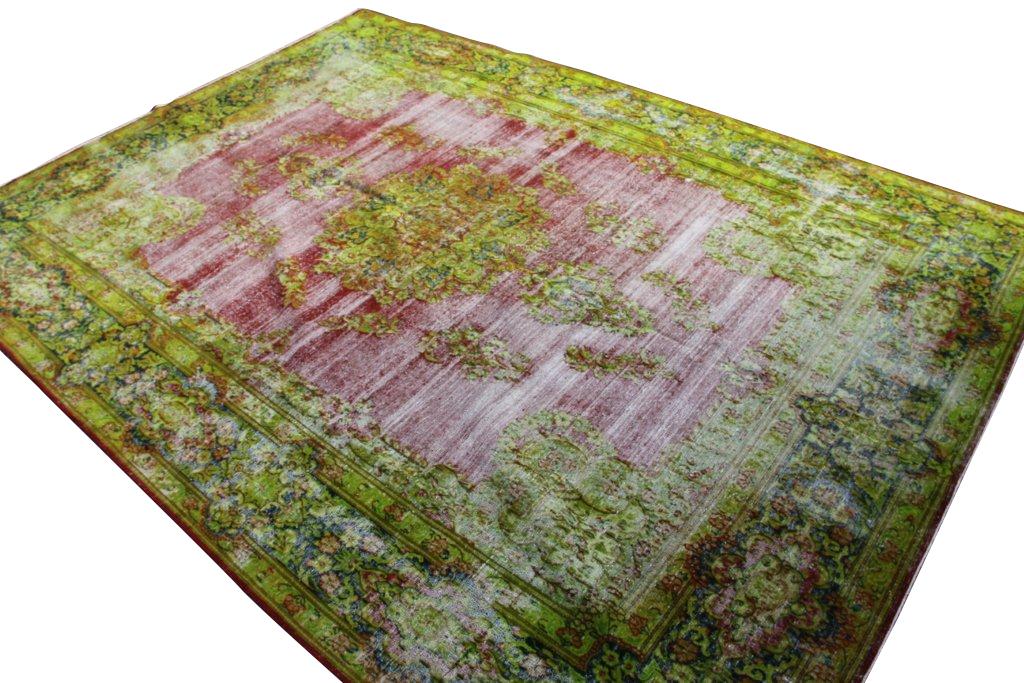 Vintage vloerkleden nr 29652 ( 414cm x 300cm) tapijt wat een nieuwe hippe trendy kleur heeft gekregen.
