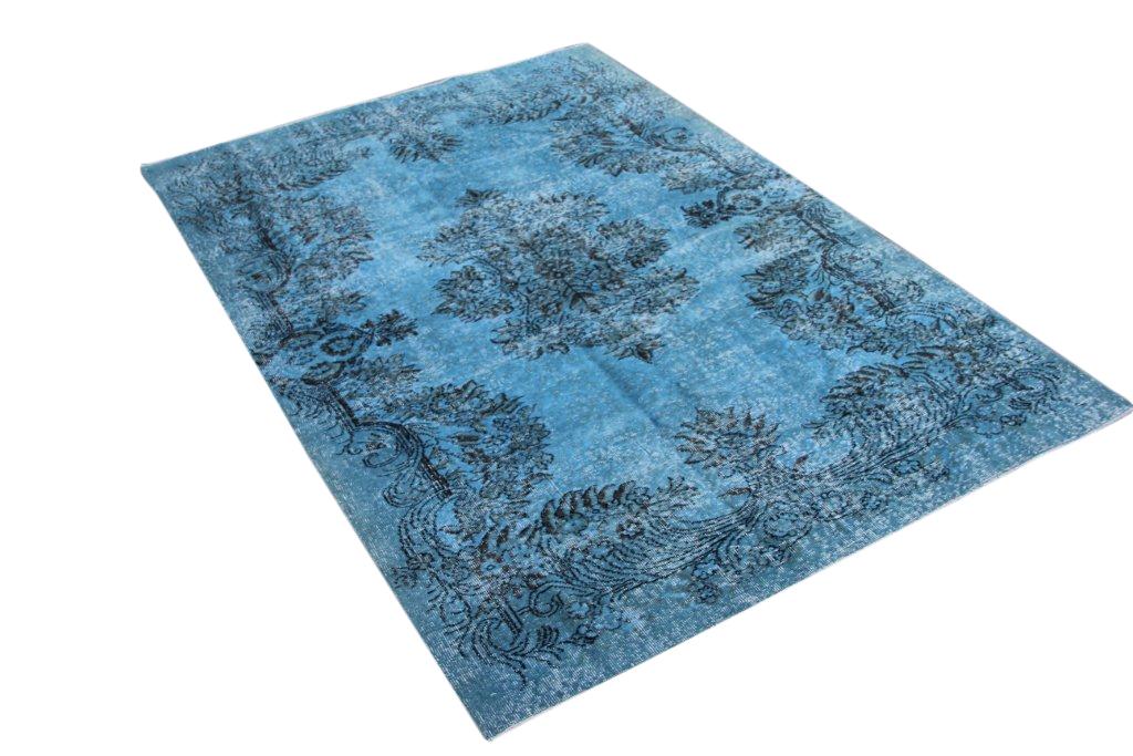 Grijs blauw vloerkleed no 0030 (266cm x 183cm) vloerkleed wat een nieuwe hippe trendy kleur heeft gekregen.