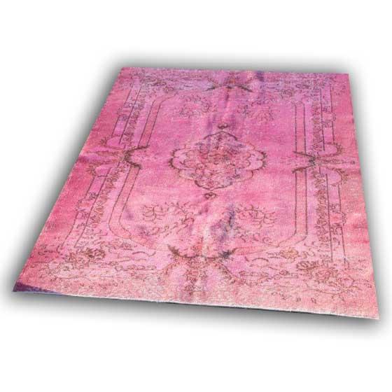 Oud roze vloerkleed 30 (284cm x 184cm)