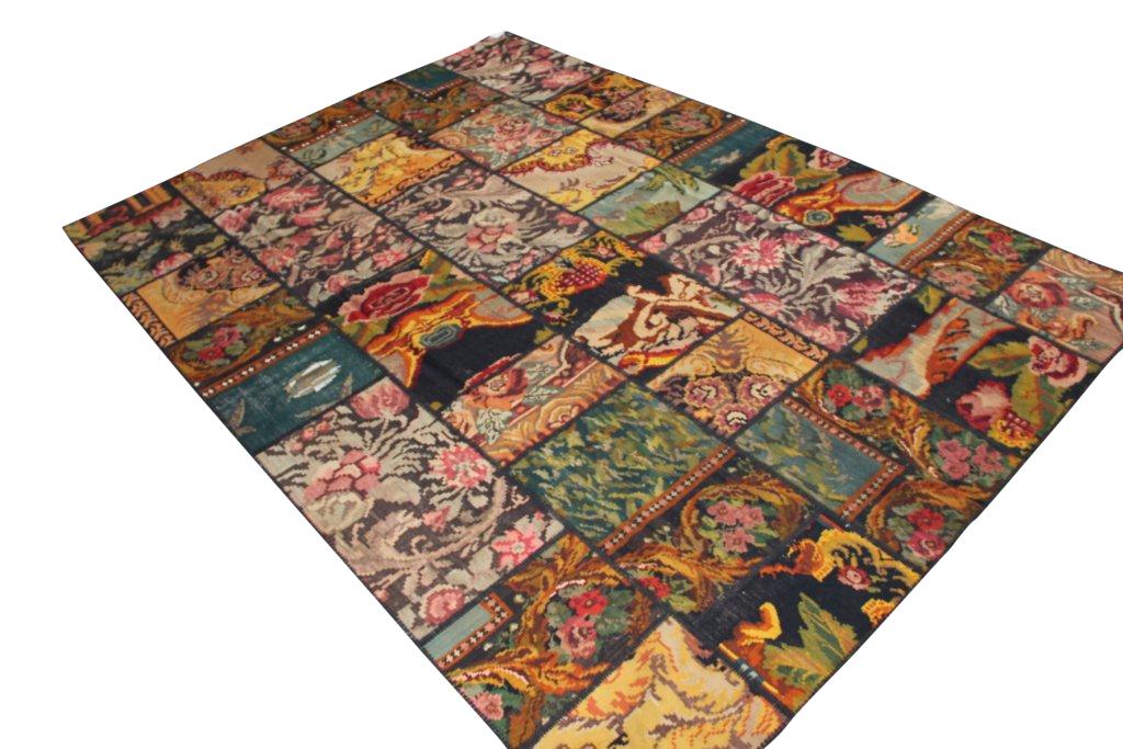 Groot patchwork kelim 030D (352cm x 254cm)