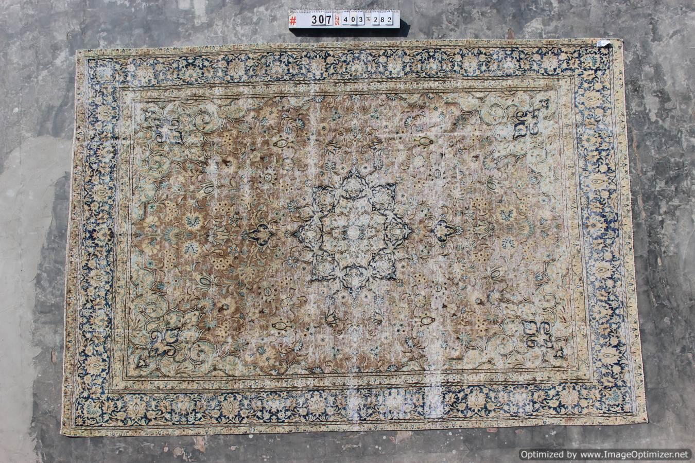 Recoloured klassiek vloerkleed nr 307 (403cm x 282cm) VERKOCHT