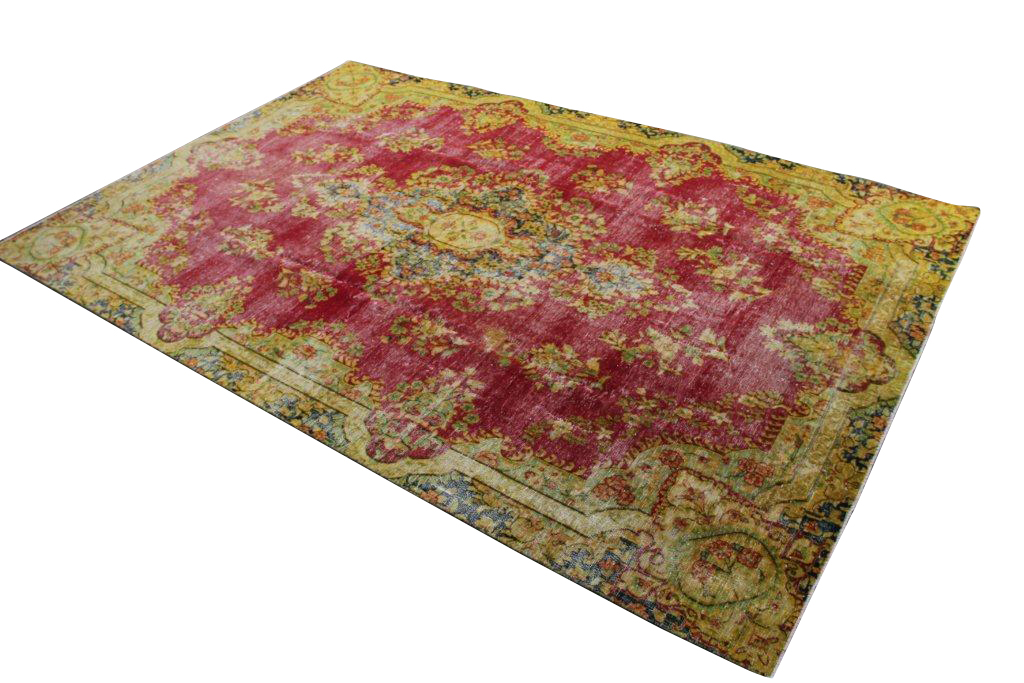 Recoloured klassiek vloerkleed nr 31780 ( 354cm x 234cm) tapijt wat een nieuwe hippe trendy kleur heeft gekregen.