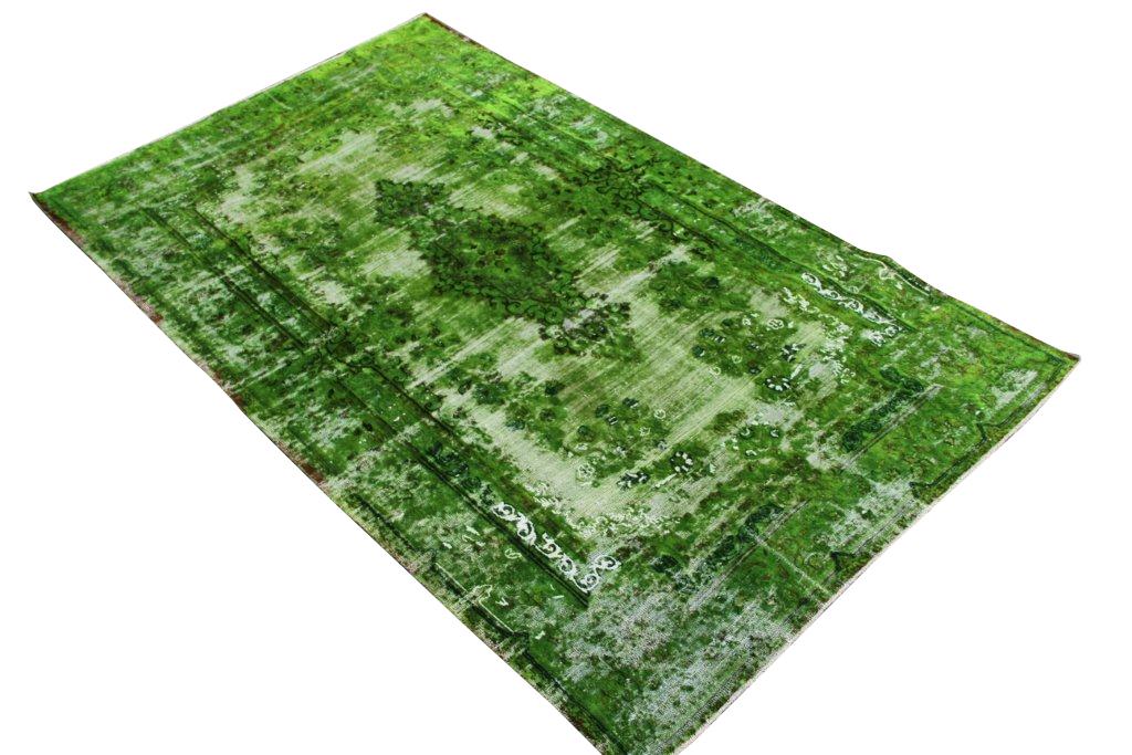 Recoloured klassiek vloerkleed nr 31787( 250cm x 150cm) tapijt wat een nieuwe hippe trendy kleur heeft gekregen. NIEUW BINNEN!