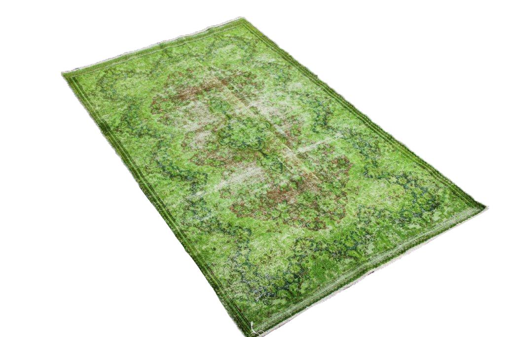 Groen klassiek vloerkleed nr 31788D ( 200cm x 120cm) Dit kleed ligt bij Silo 6 in Harderwijk