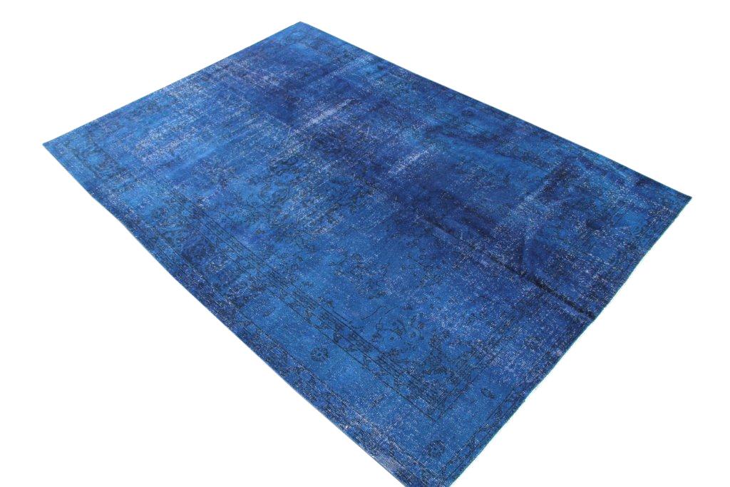 Donkerblauwe authentieke vloerkleed 319D (281cm x 200cm)  VERKOCHT!