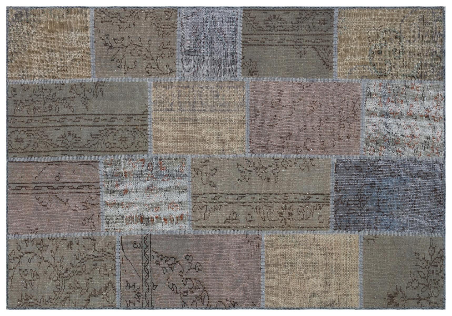 patchwork vloerkleed grijs nr.33243 230cm x 160cm