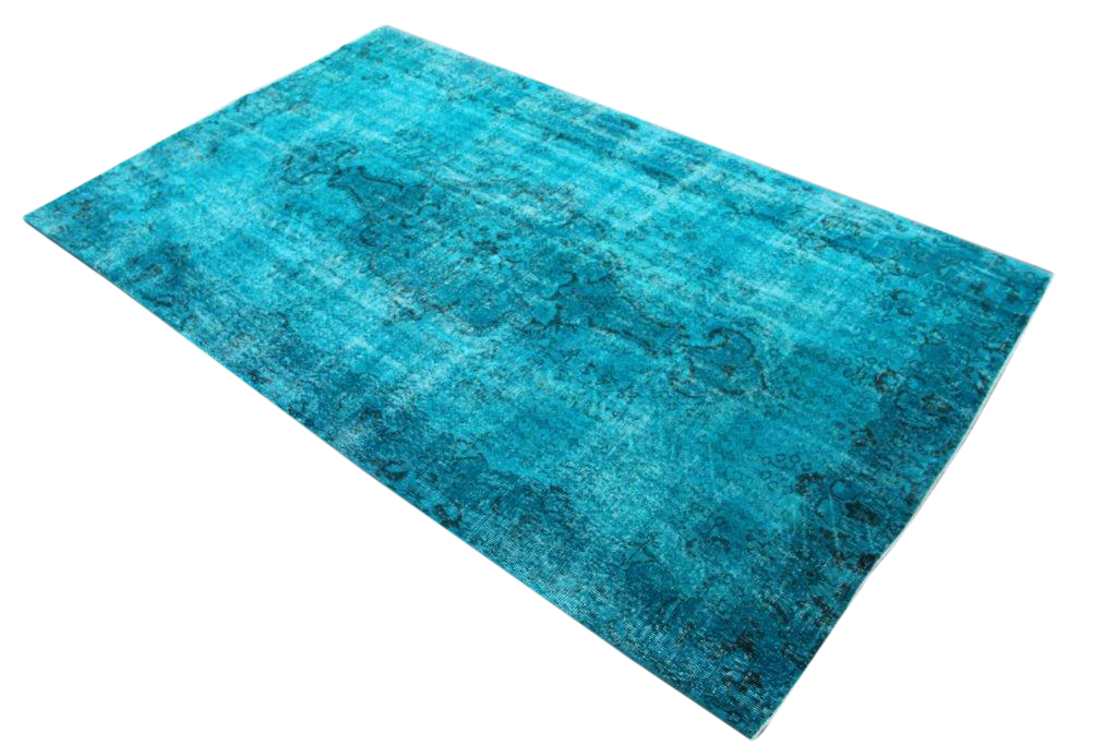 Blauw vloerkleed no 0034 (310cm x 188cm) vloerkleed wat een nieuwe hippe trendy kleur heeft gekregen.