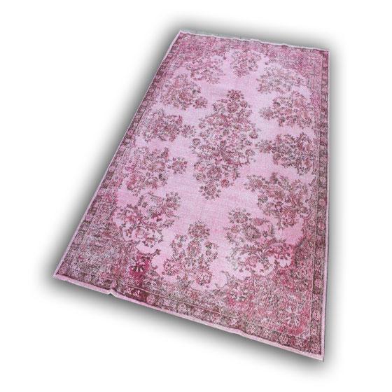 Oud roze vloerkleed 341 (284cm x 202cm)