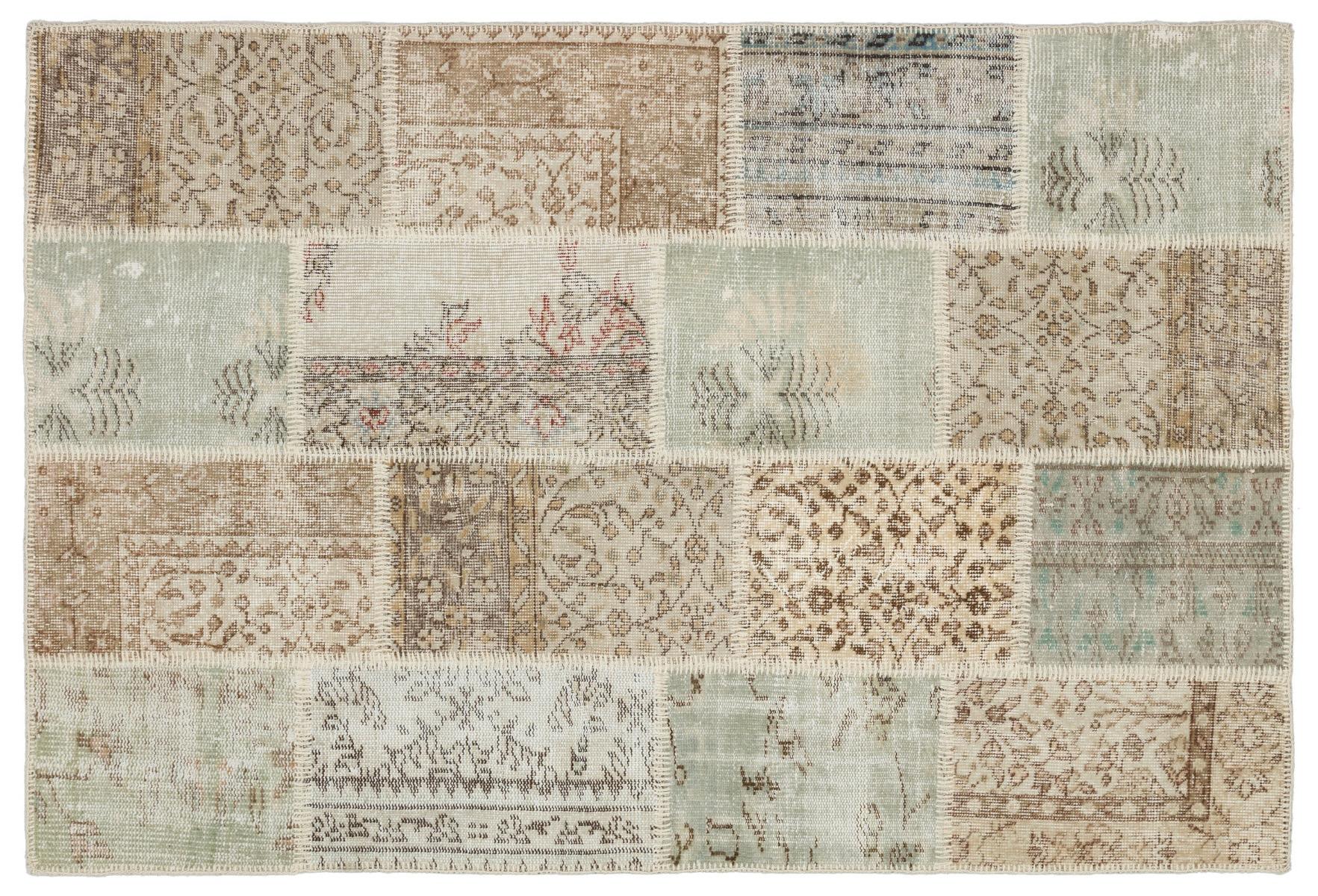 patchwork vloerkleed beige nr.34111 180cm x 122cm