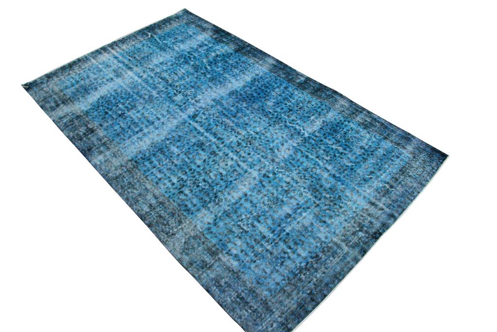 Blauw vintage tapijt no 3554 (271cm x 169cm) Gereserveerd!