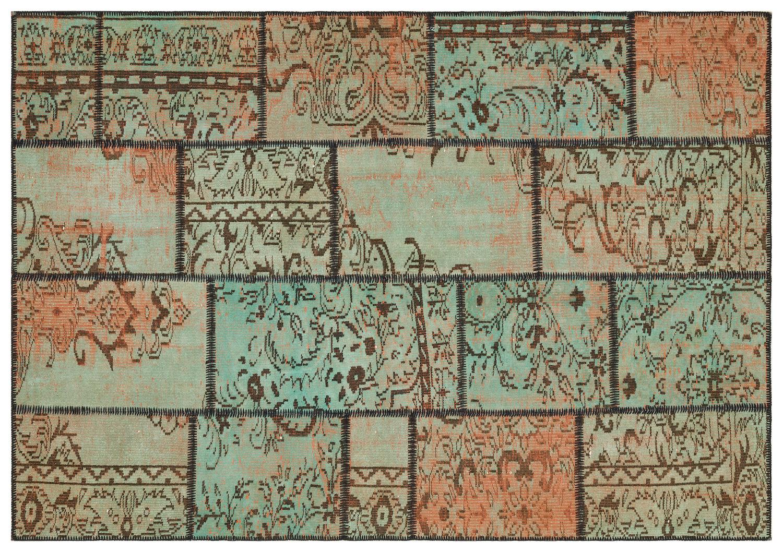 patchwork vloerkleed groen 35453